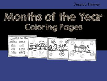 Coloring Pages For January Month : Months of the year book covers