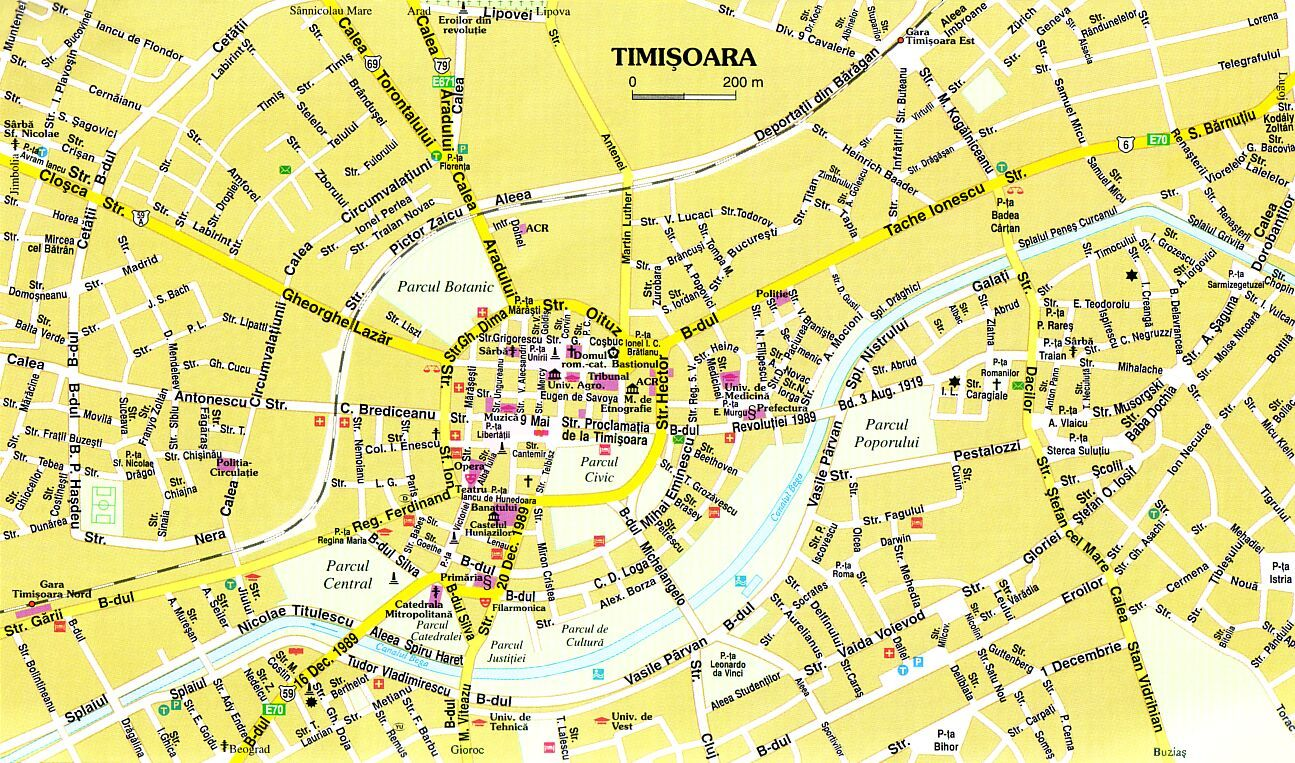 Harta Orasului Map City Map Timisoara