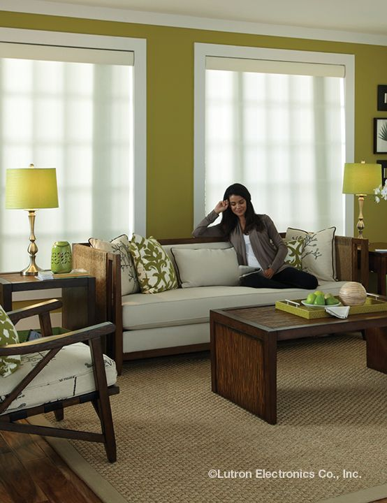 Lutron shades add style, beauty and function to any room! Serena and Sivoia