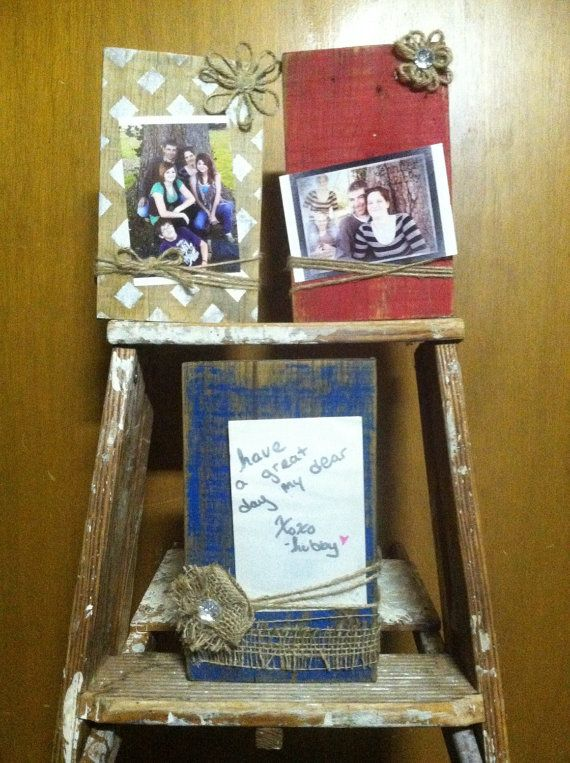 Wood Picture Holder Note Holder by dreamydezignz on Etsy