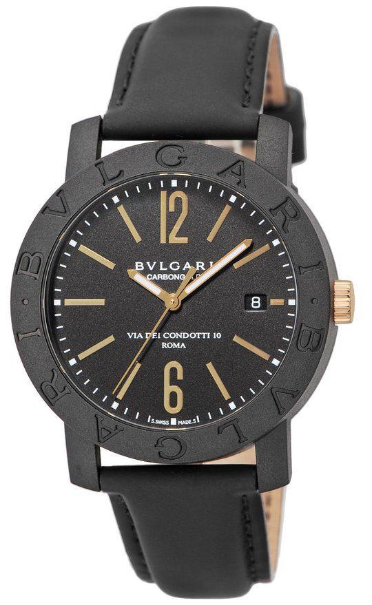 BVLGARI watch carbon Gold automatic BBP40BCGLD Men