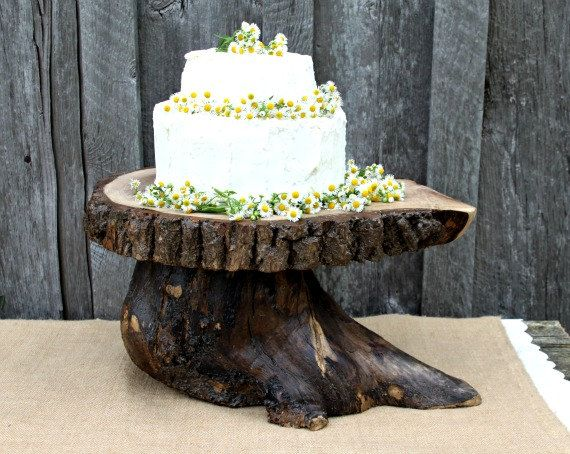 rustic wooden wedding cake stand i want this 20 quot tree slice wedding cake stand great 19593