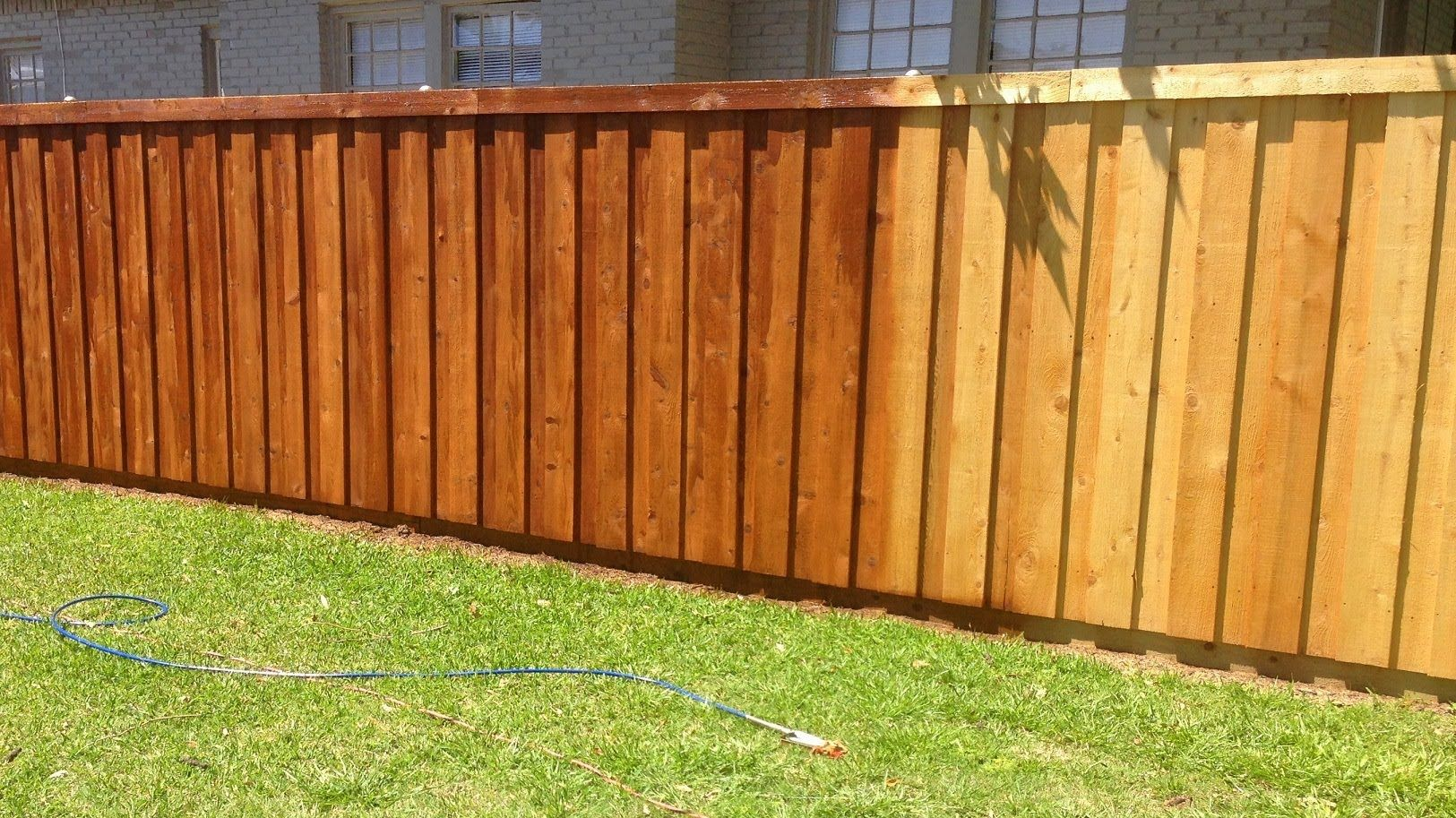 How We Stained Our New Cedar Wood Fence Youtube Cedar Fence