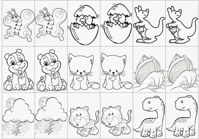 Professora Michelle Joga Da Memoria Colorido E Para Colorir Para Imprimir Tirado Da Net Colorir Jogo Memoria Infantil Brinquedos E Brincadeiras