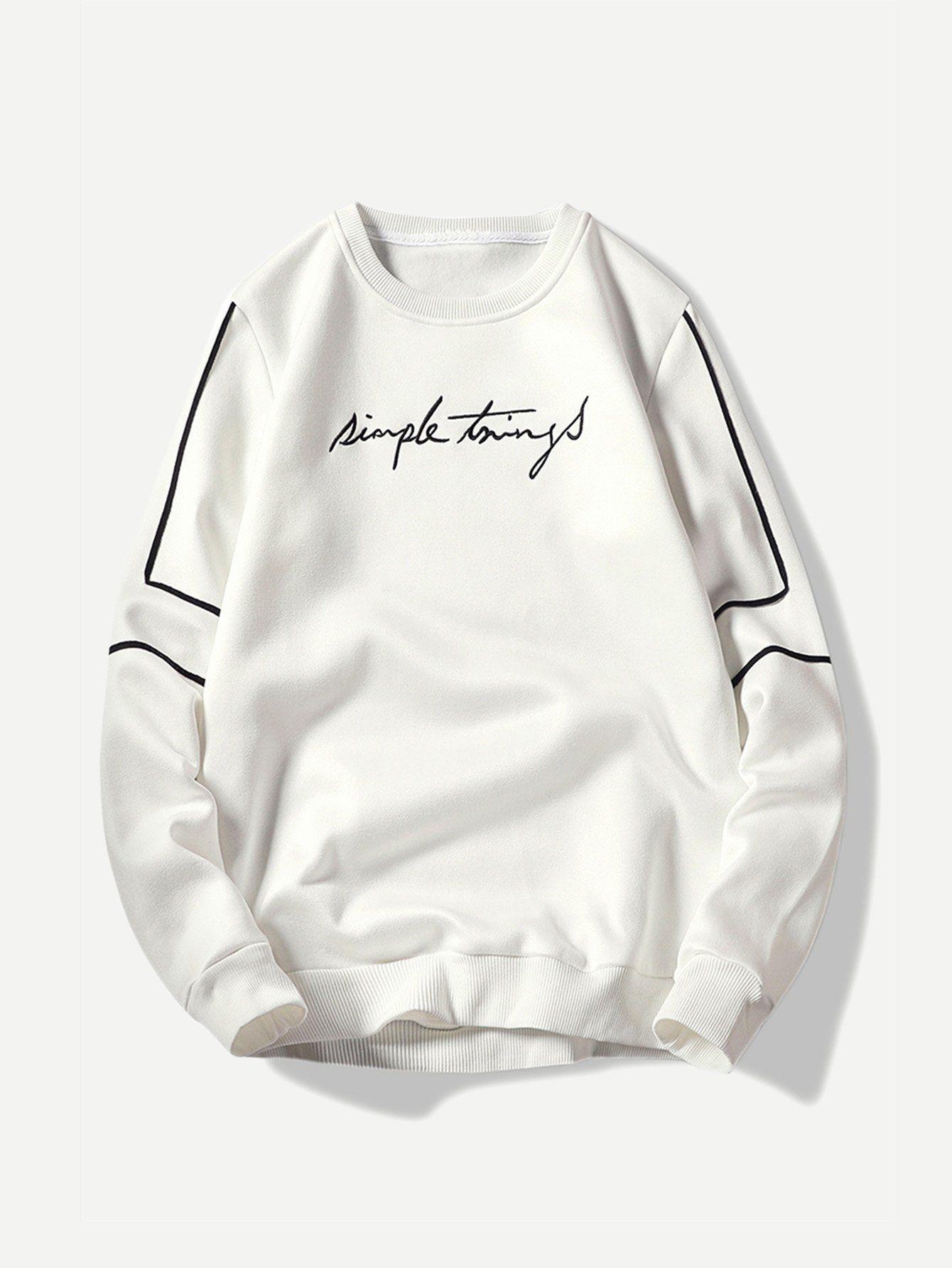 Men Slim Fit Embroidery Sweatshirt Love Menwithstyle Gentleman Menstyle Menwi Embroidery Sweatshirt Comfortable Sweatshirt Mens Sweatshirts [ 1785 x 1340 Pixel ]