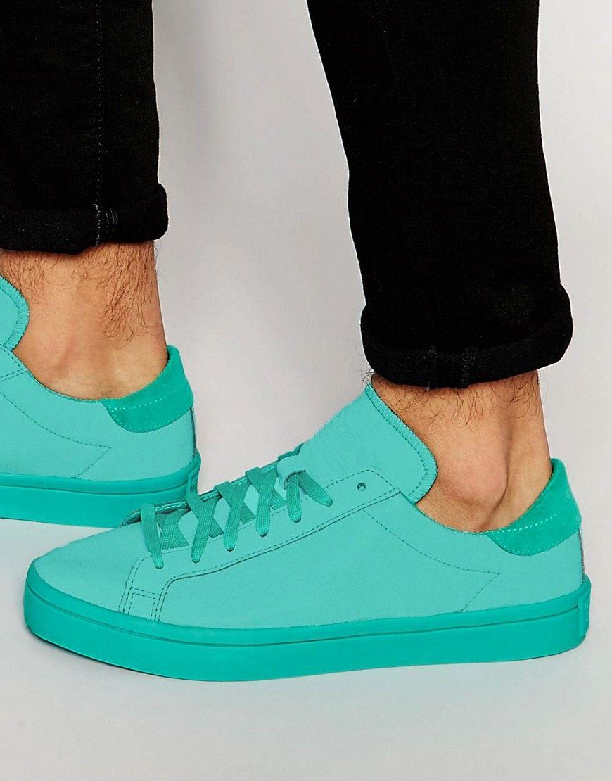 buy popular b6561 8adf1 adidas Originals Court Vantage adicolor Sneakers In Green S80256