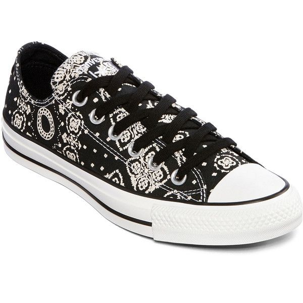 Converse Chuck Taylor All Star Womens Ox Bandana Sneakers ( 30) ❤ liked on  Polyvore 14c814514