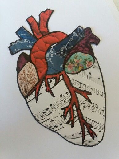 Collage papel corazón Anatómico | HeArt | Pinterest | Anatomical heart