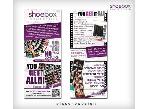 Photo Booth Flyer  PostcardFlyerShoeboxPhotoBoothInc