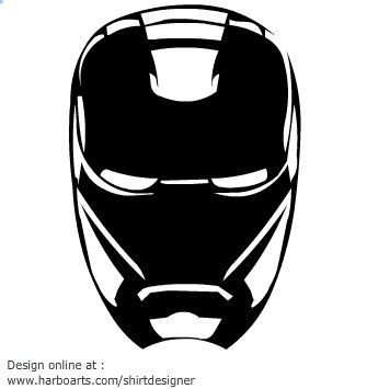 ironman-mask-silhouette | Ideas for the boys | Pinterest ...