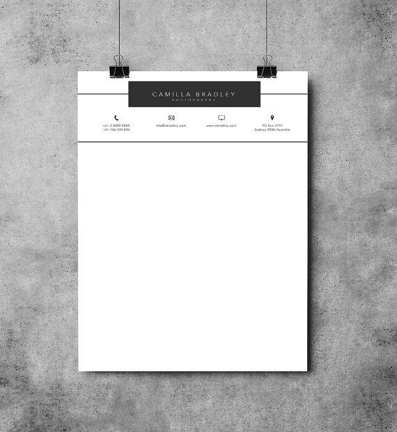 Professional Letterhead Templates Letterhead Template  Printable Letterhead Design  Microsoft Word .