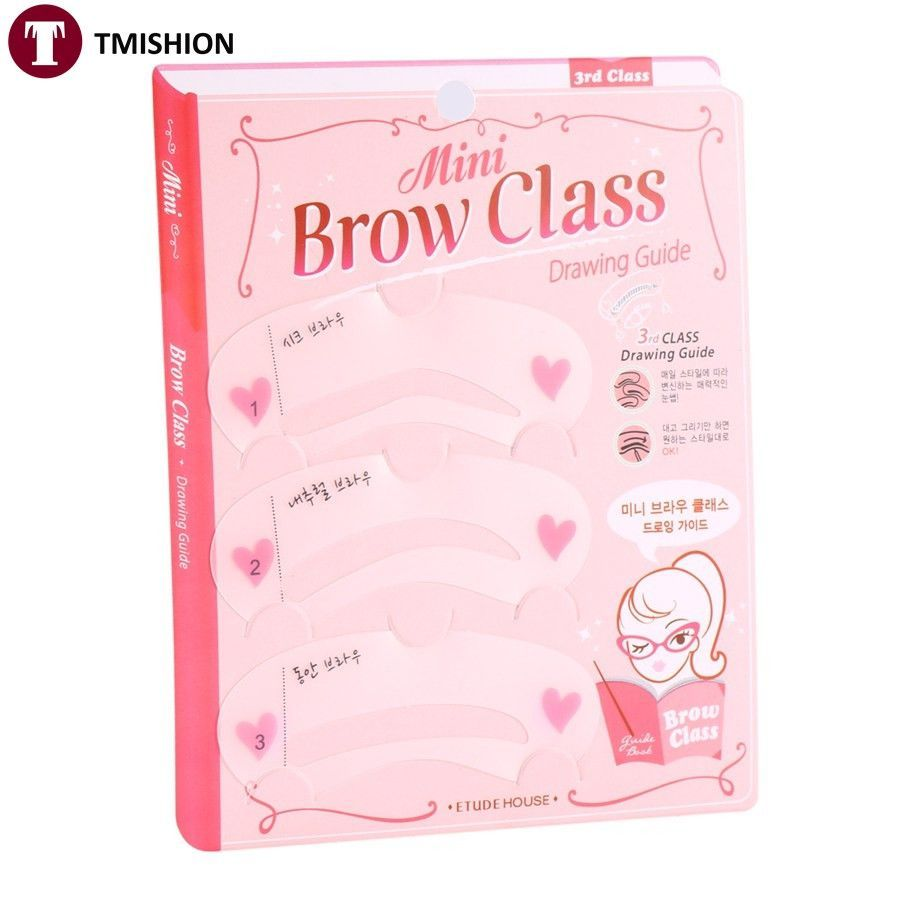 New 3 Pcs Per Set Magic Eye Brow Class Drawing Guide Eyebrow Stencil Card Template Assistant