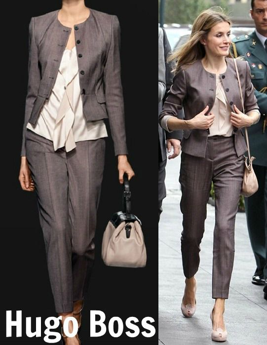 June 2012 - State visit to the USA - Letizia in New York wearing Hugo Boss