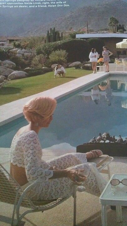 Palm springs 1970 lace crop tops and teased hair heaven for Pool design 1970