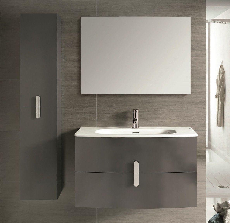 Accanto 39 Inch Modern Wall Mount Bathroom Vanity Grey Finish