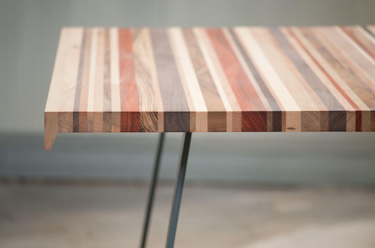 Tavolo Design Legno Ferro : Tavolo allungabile in legno e gambe in ferro carbon xlab
