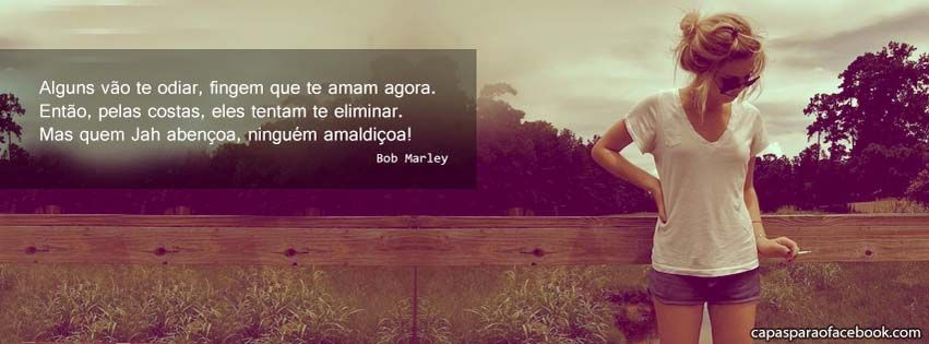 Frase Bob Marley Quem Jah Abençoa Imagem Foto Frase Tumblr Garota