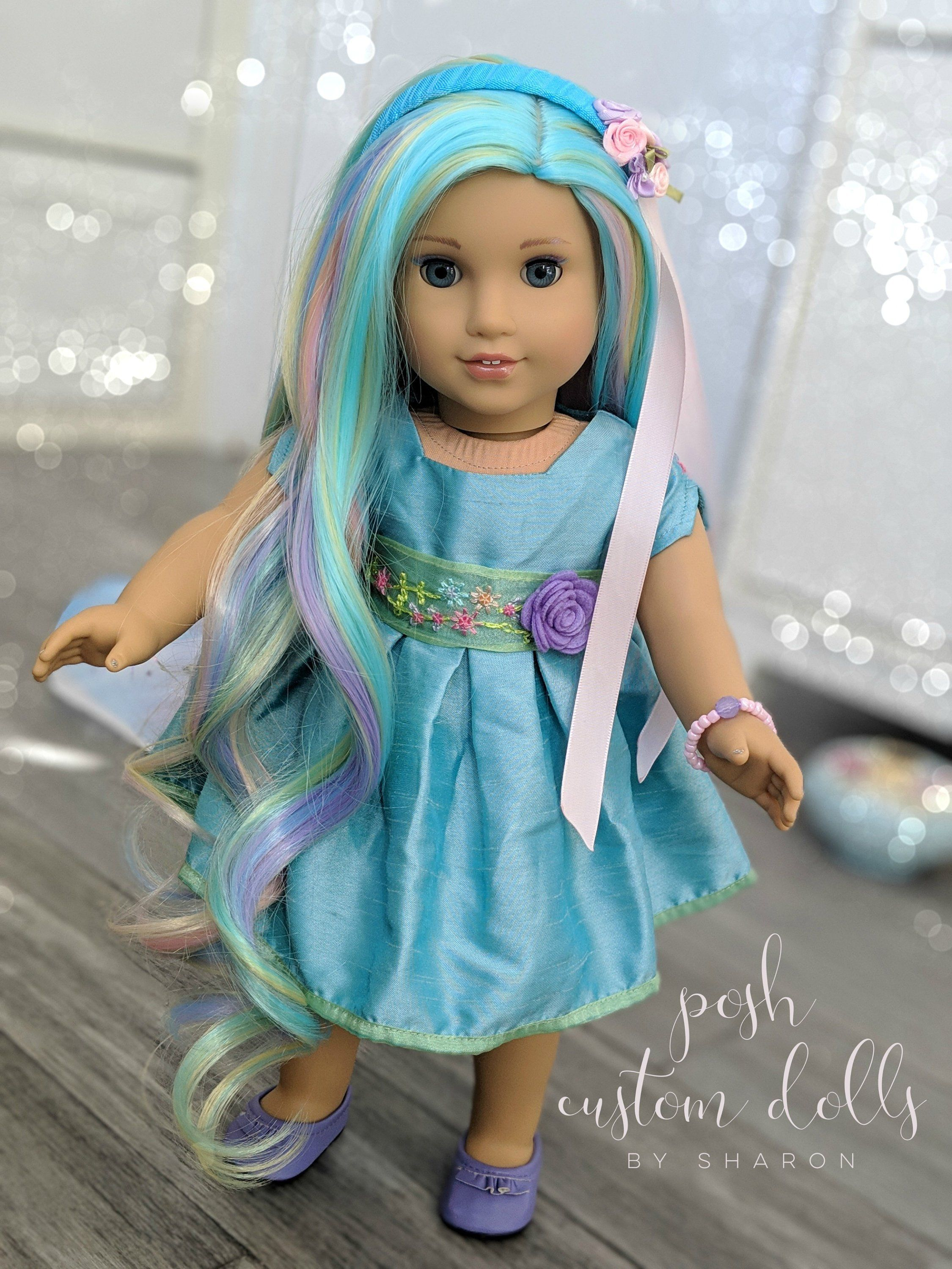 Custom American Girl Doll OOAK EXAMPLE ONLY - -Party Doll #americangirldollcrafts