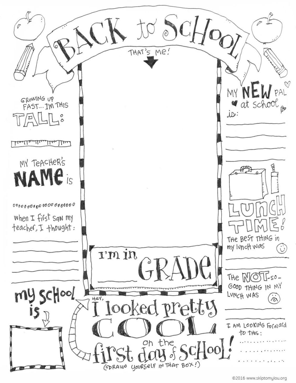 FREE Printable Back to School Coloring Page | Teacher Gifts ...