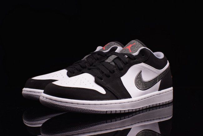 info for 3bd0c 7780f Air Jordan 1 Low - Black   Infrared 23-White-Wolf Grey - Air 23