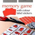DIY memory game with colour  label stickers
