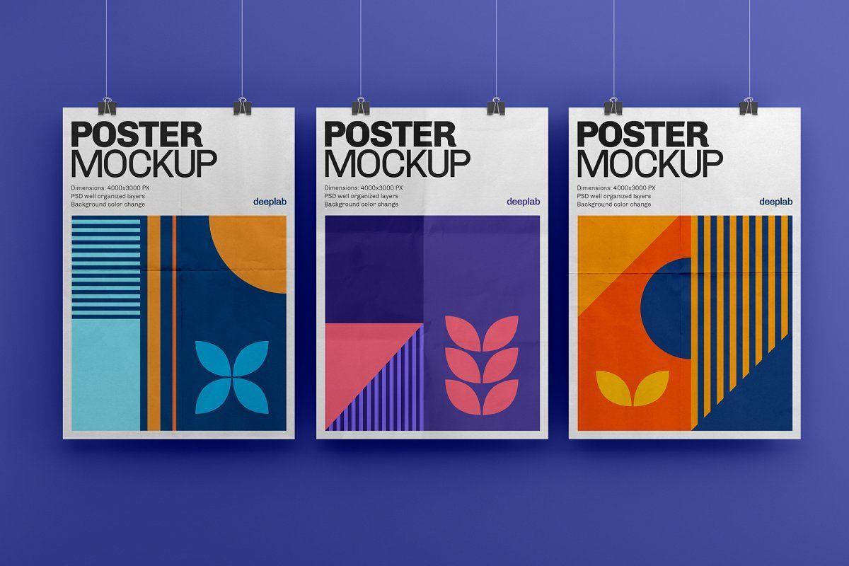Vertical Poster Mockup Set Poster Mockup Mockup Outdoor Advertising Mockup
