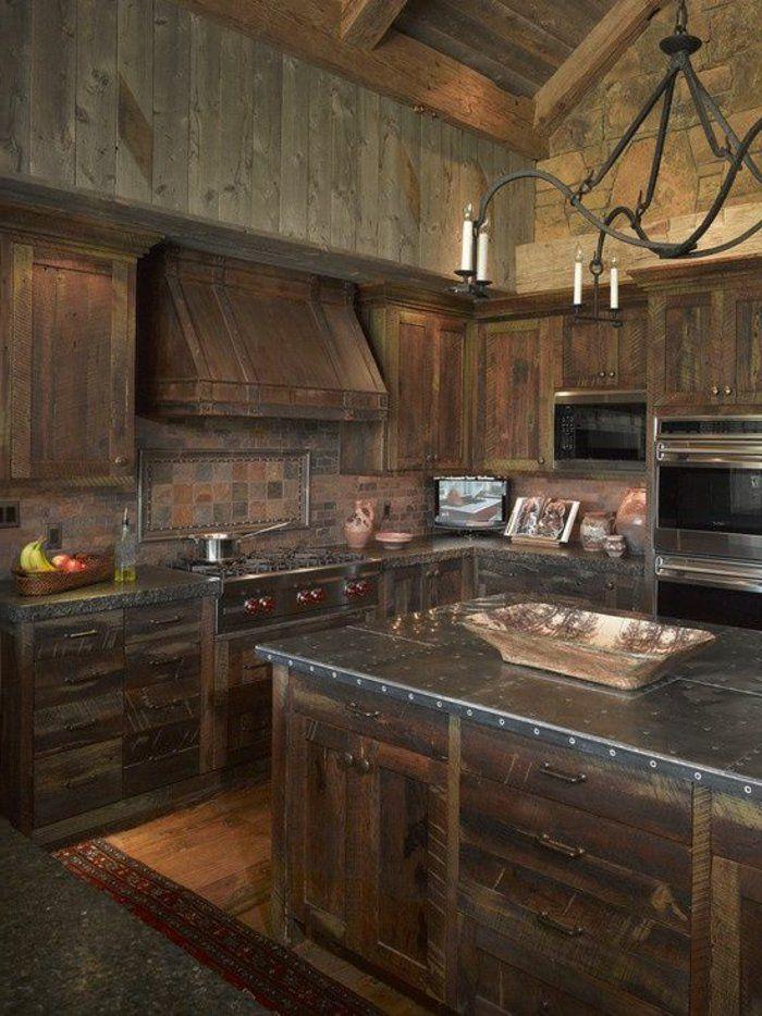 La cuisine en bois massif en beaucoup de photos! Cabin, Cabin