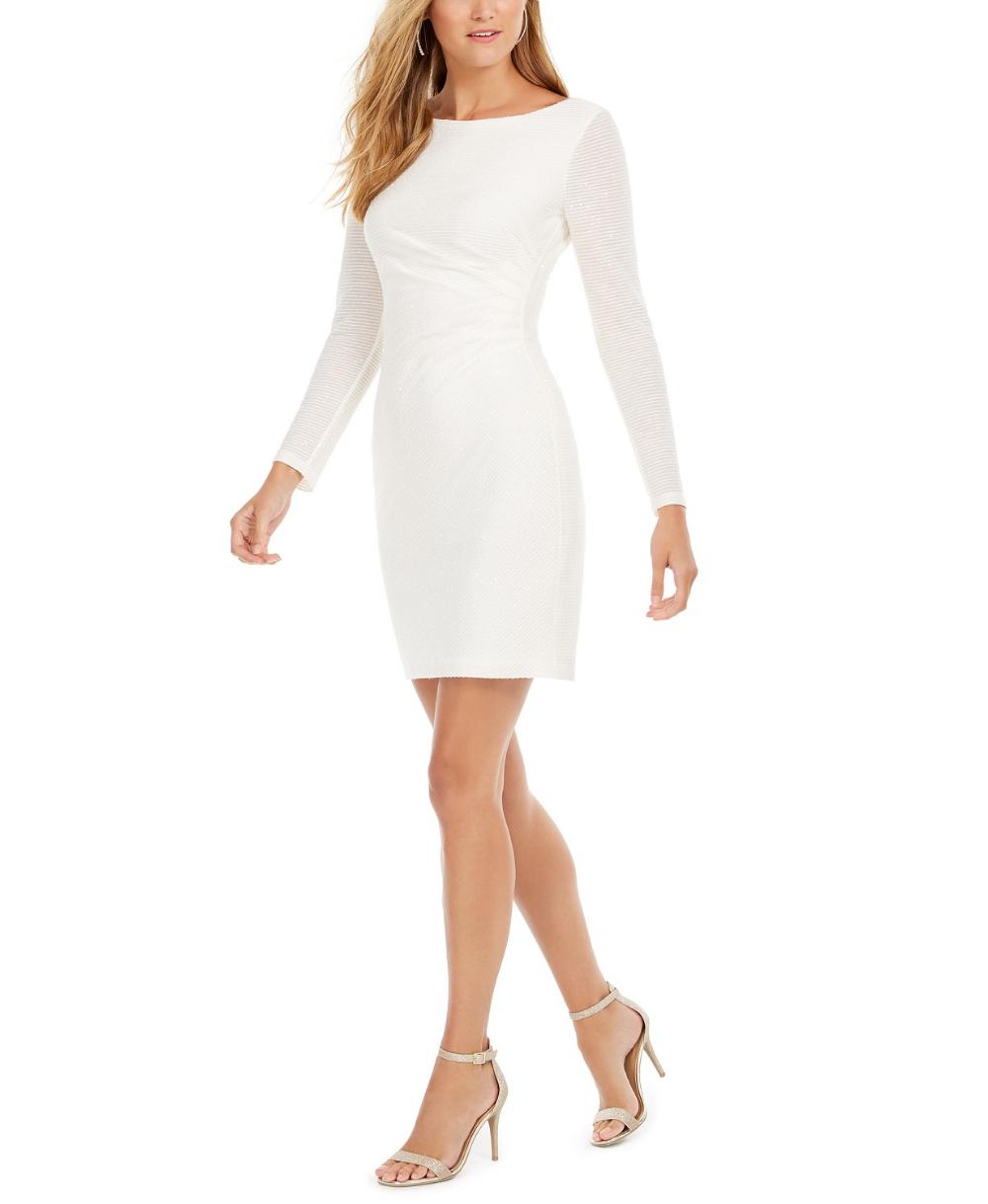 Vince Camuto Sequined Sheath Dress Reviews Dresses Women Macy S Women Clothes Sale Dresses Long Sleeve Sheath Dress [ 1219 x 1000 Pixel ]