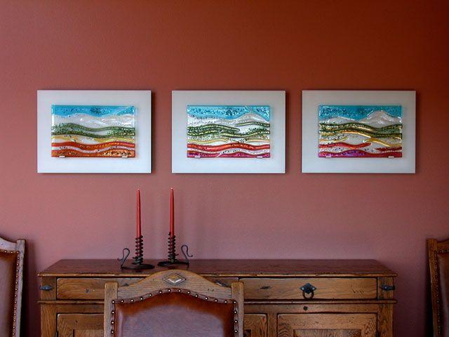 Triptych Glass Wall Art Panels | glass wall | Pinterest | Glass wall ...