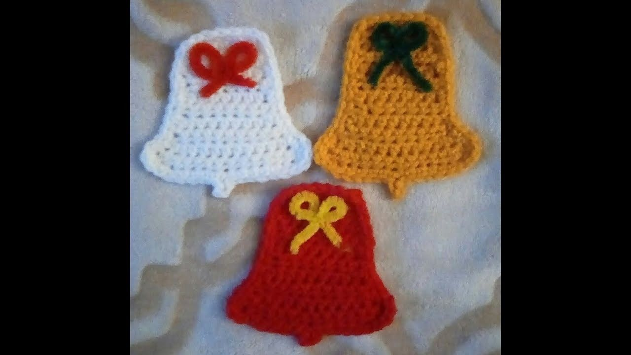 Crochet Christmas Bell Ornament Garland Gift Tag Pattern