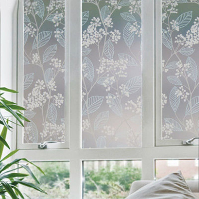 Static Cling Window Film Glass Stained Cover Frosted Privacy Home Bathroom  New