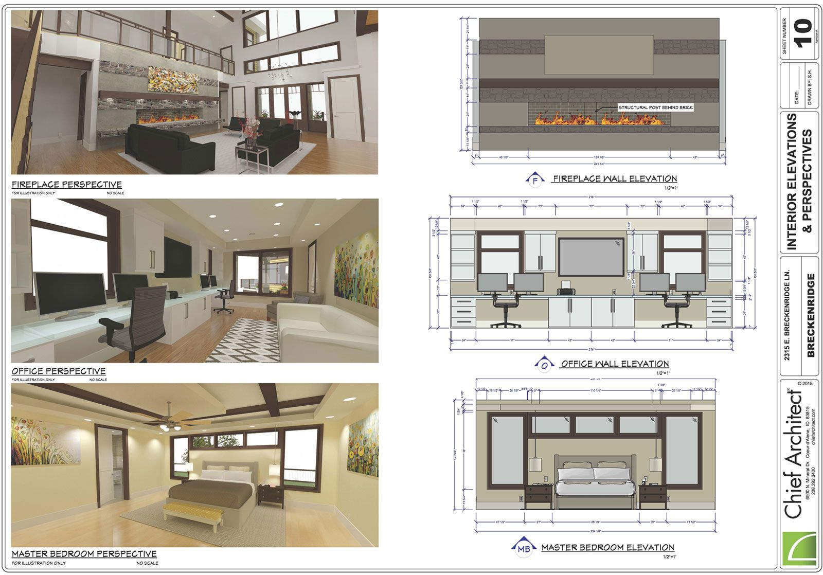 Interior Design Layout With Wall Elevations And Dimensions With