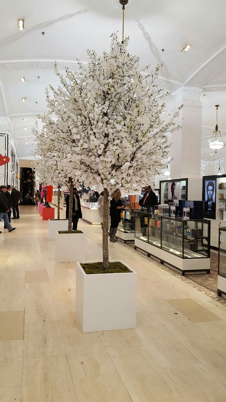 Yoshino Cherry Tree With Faux Silk Blooms 12 14 Tall These Trees Were Created And Rented As Promotional Decor Decorating Services Event Decor Plant Decor