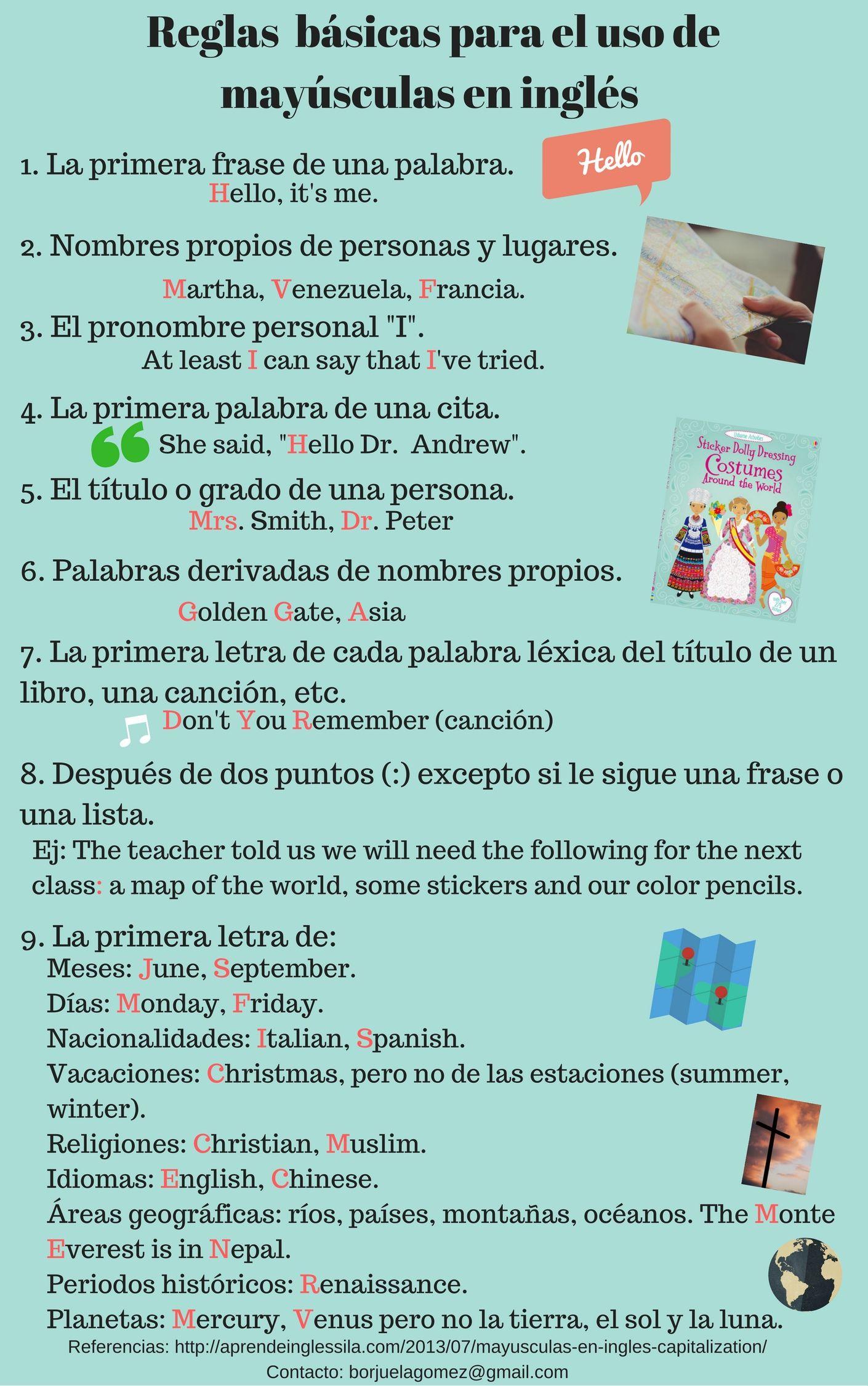 Uso De Las Mayusculas En Espanol