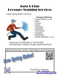 power washing flyers