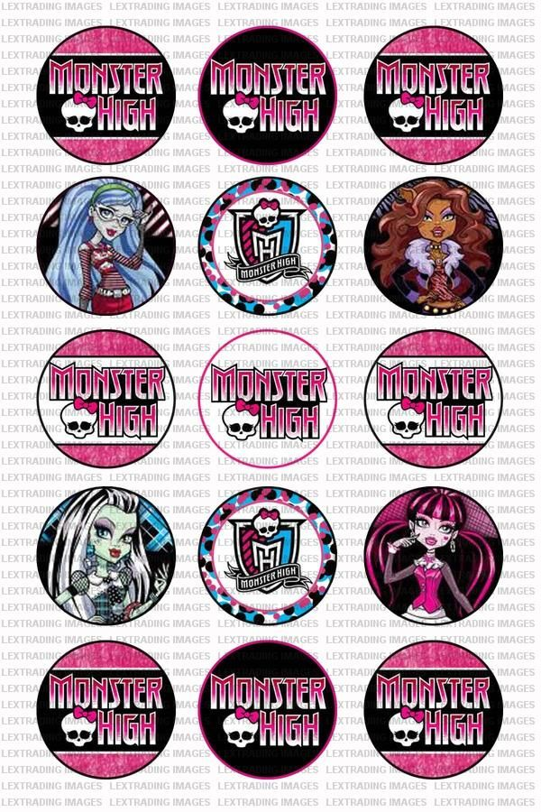 monster high free printables monster high dolls 15 images 1 inch circle sheet 4x6