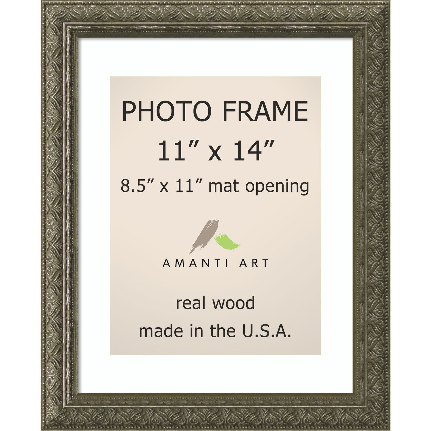 Barcelona Pewter Photo Frame 13 x 16-inch (Pewter Photo Frame Matted ...