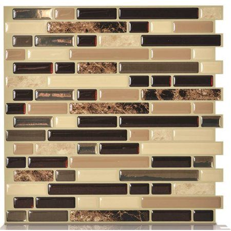 Peel And Stick Mosaic Decorative Wall Tile In Bellagio Smart Tiles Original Peel & Stick Wall Tile  Home Kitchen Decor