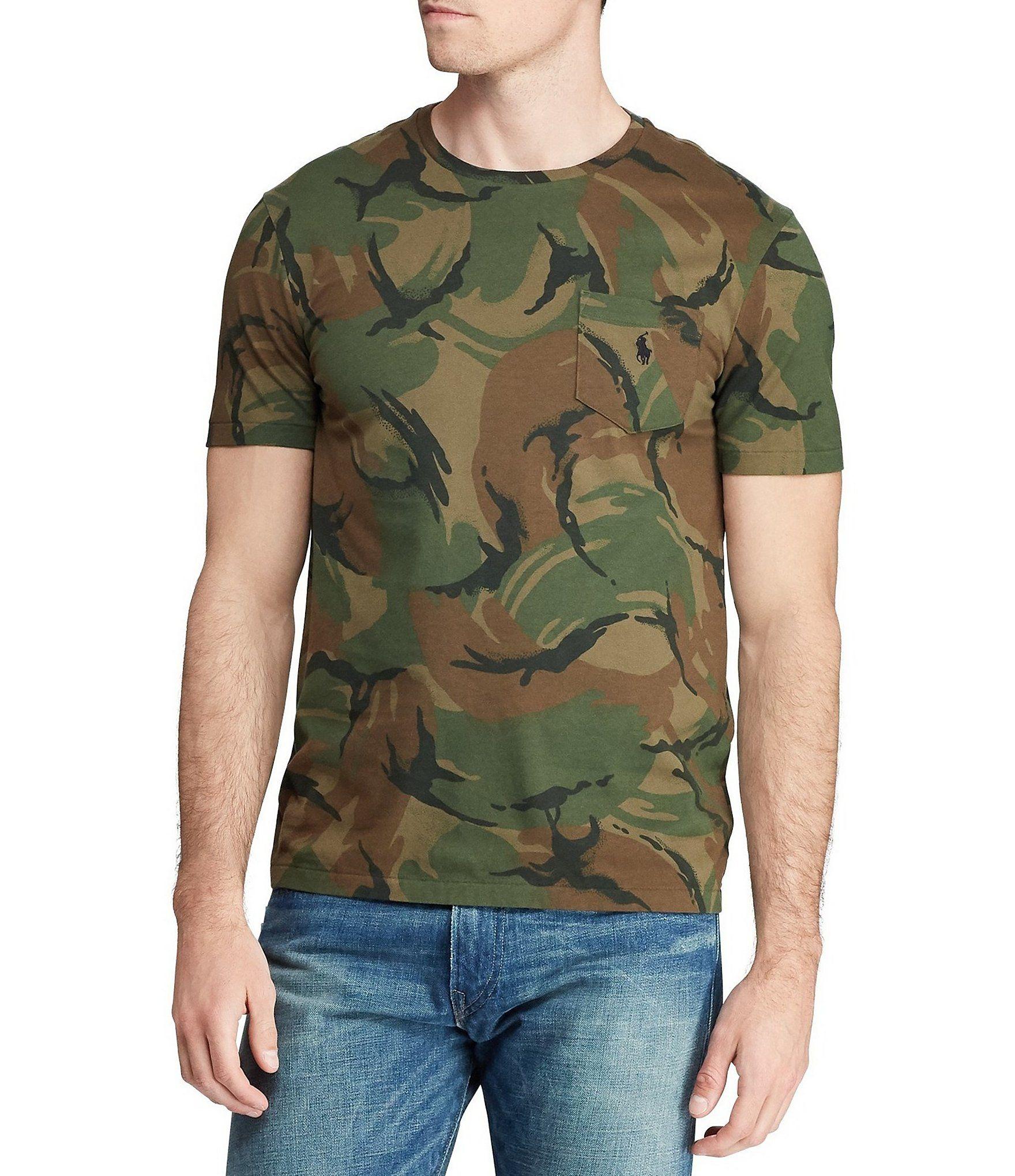 Photo of Polo Ralph Lauren Camo Kurzarm-T-Shirt mit Tasche | Dillards