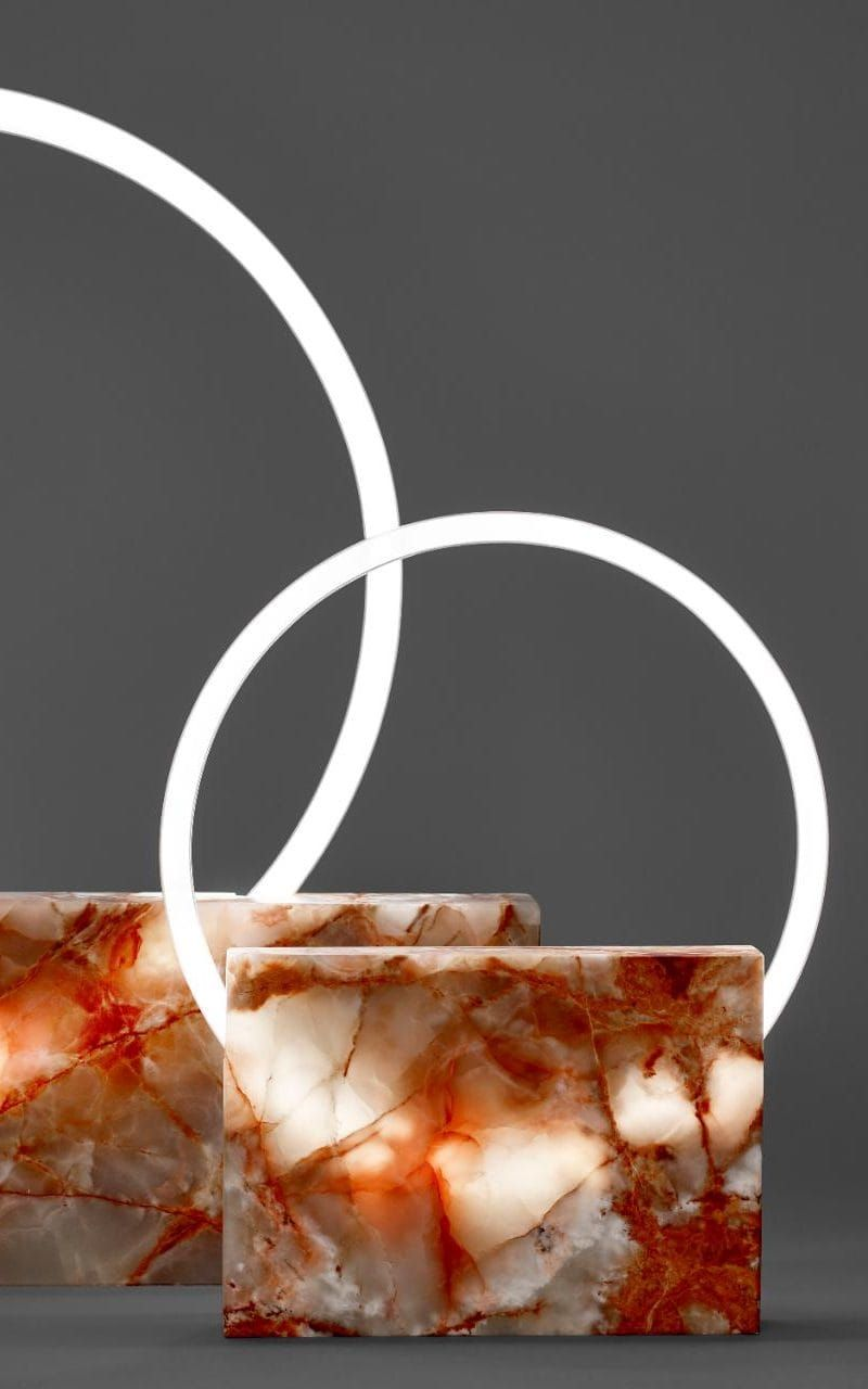Voie Lights the Stone Edition by Sabine Marcelis from £2,400 for Bloc Studios