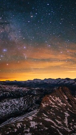 Yosemite 5k 4k Wallpaper 8k Forest Stars Sunset Osx Apple