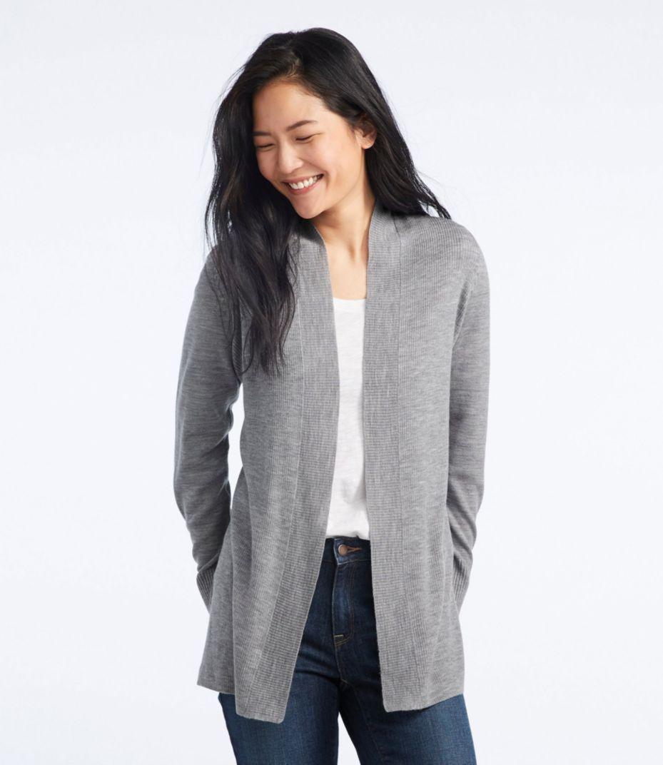 Washable Merino Wool Sweater, Cardigan. LLBean | Fashion.Shoes ...