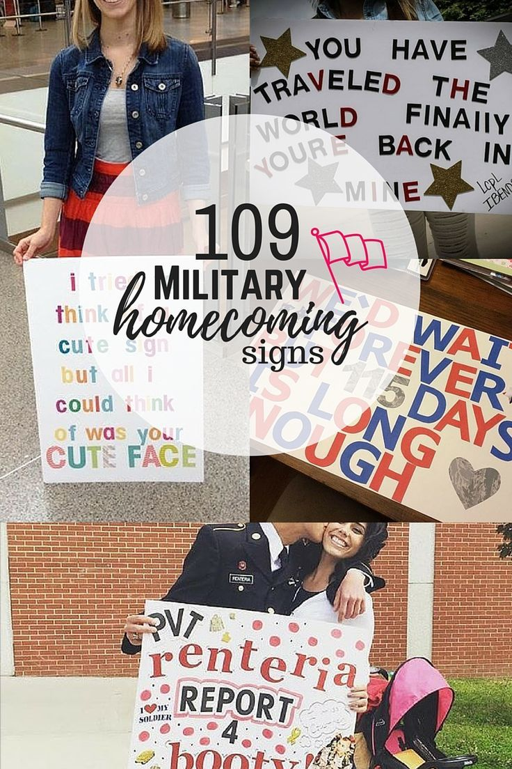 diy welcome home signs for military