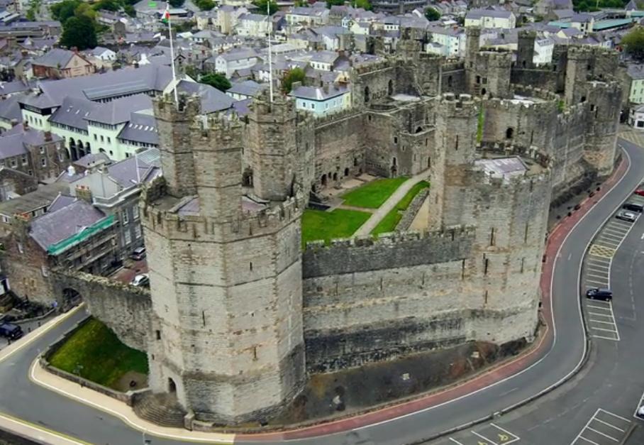 Castillo de Caernarfon. Gales