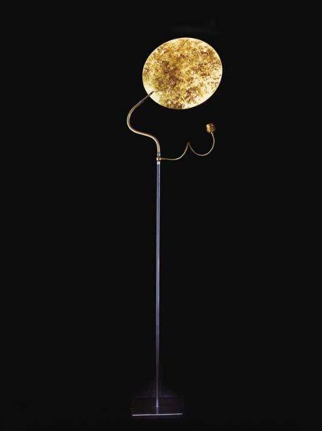 Floor standing lamp original design nickel brass luce doro catellani