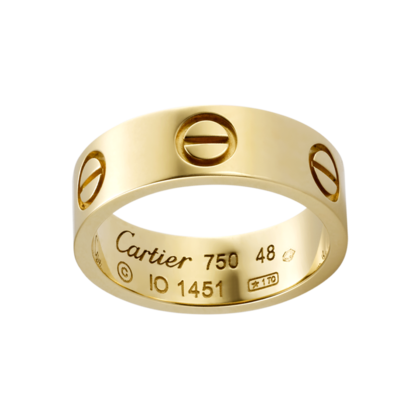 ca292ad95 This one. They said they offer free engraving LuCK would be nice  ....Cartier Love Ring (yellow gold). [$1,553 USD]