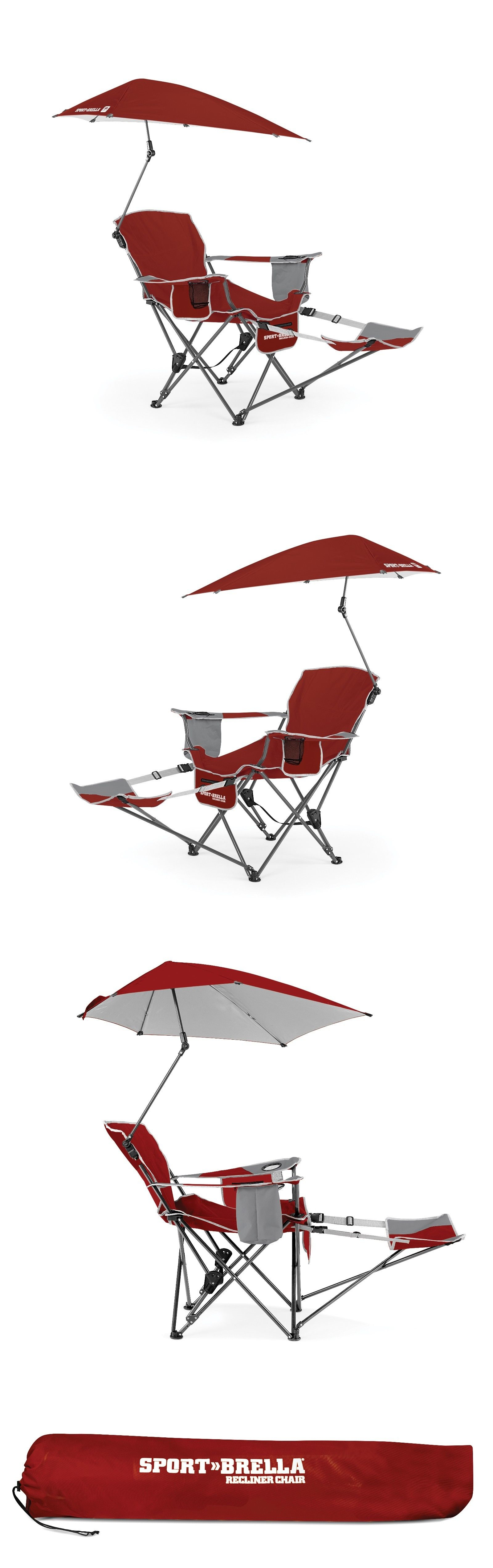 C&ing Furniture 16038 Sport-Brella Recliner Chair | Firebrick Red - Reclining Sport Chair  sc 1 th 249 & Camping Furniture 16038: Sport-Brella Recliner Chair | Firebrick Red ...