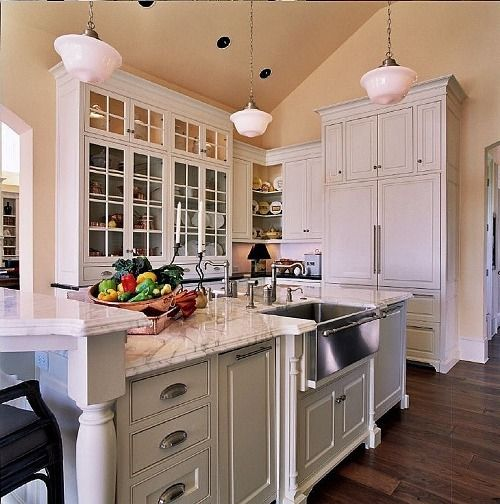 Types Of White Tall Kitchen Cabinets Desirable White ...