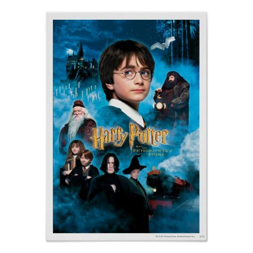 Philosopher S Stone Poster Zazzle Com Harry Potter Movies Harry Potter Poster Philosophers Stone