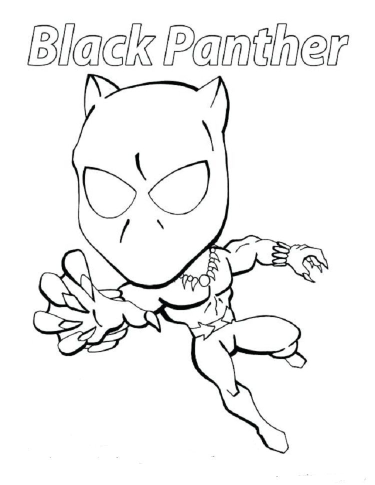 Black Panther Coloring Pages For Kids Superhero Coloring Pages Avengers Coloring Pages Avengers Coloring
